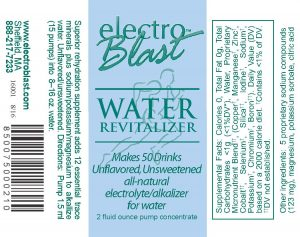 Water Revitalizer label